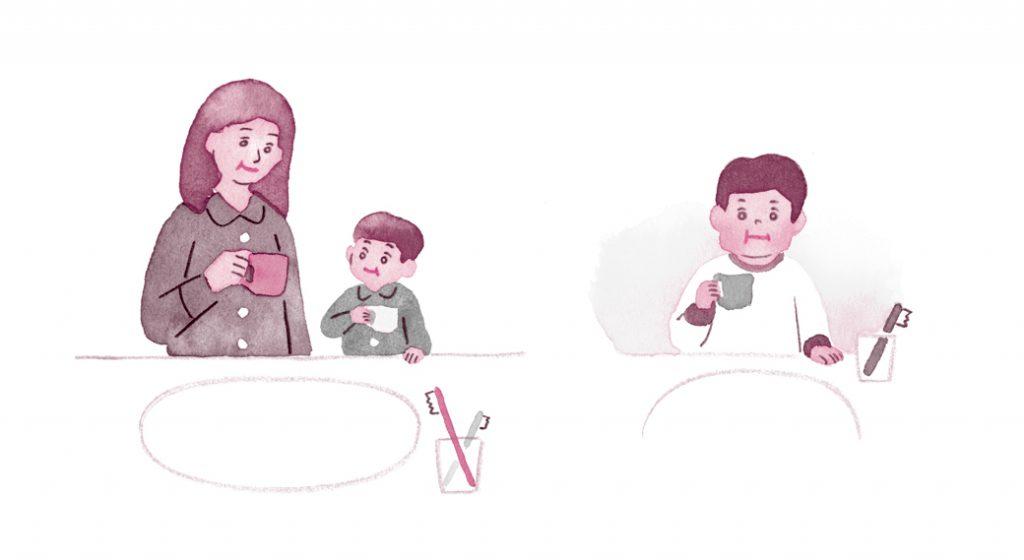 子ども うがい イラスト 2色