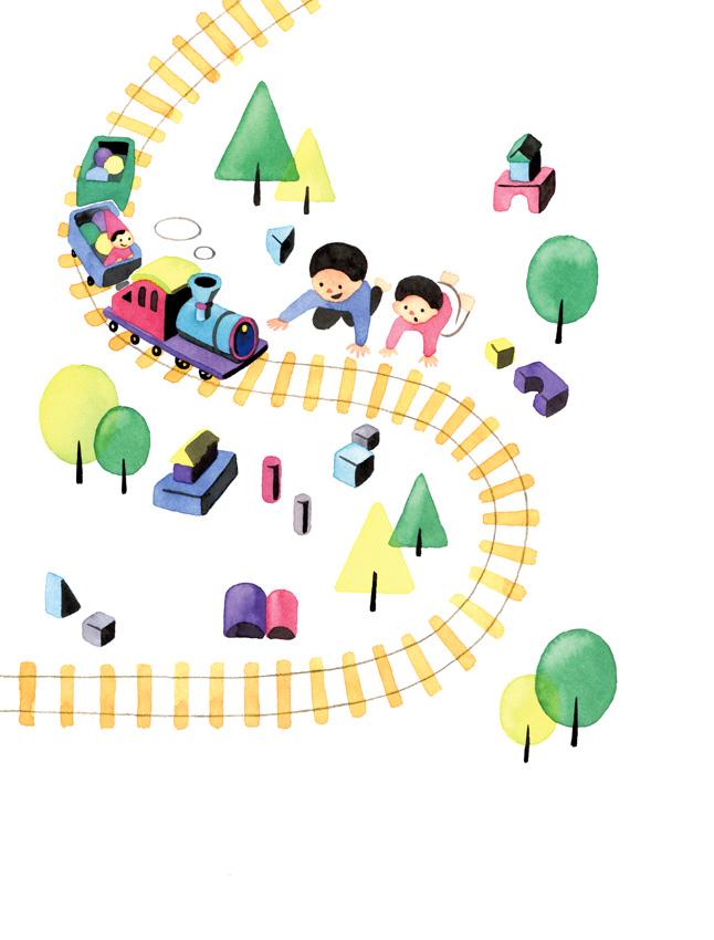 子ども 線路 おもちゃ イラスト