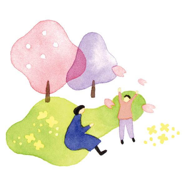 水彩 イラスト 桜